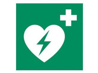 """Hinweisschild """"Defibrillator"""" 148 x 148 mm 1x1 Stück"""