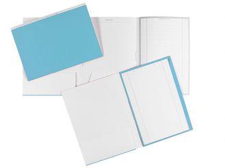 Karteimappen ALPHAnorm A4 blau / weiß 1x100 Stück
