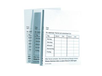 Behandlungskarte Terminvergabe 1x500 Stück