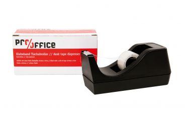 Tischabroller, schwarz, inkl. 1 Rolle Klebefilm 19 mm x 10 m 1x1 items