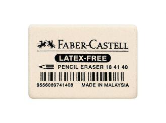 Faber-Castell Radierer, weiß, 2,5 x 0,7 x 3,7 cm 1x1 items