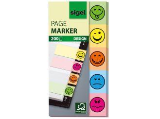 Sigel Haftmarkerblock, Design Smile, 15 x 50 mm, 1x5 Stück