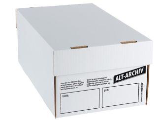 Alt-Archiv-Karton A5 mit Deckel weiß 1x1 Stück