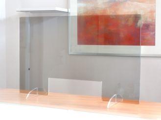 Nies- und Spuckschutzscheibe (Acryl), 78 x 48 cm 1x1 Stück