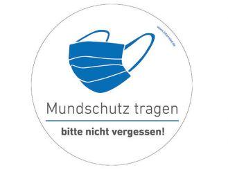 """INTERMED Aufkleber """"Mundschutz tragen"""", rund, Ø 25 cm 1x1 Stück"""