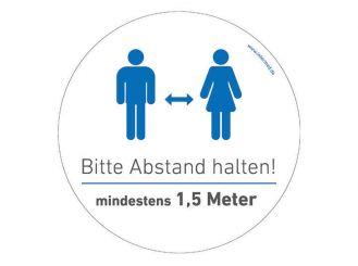 """INTERMED Aufkleber """"Bitte Abstand halten"""", rund, Ø 25 cm 1x1 Stück"""
