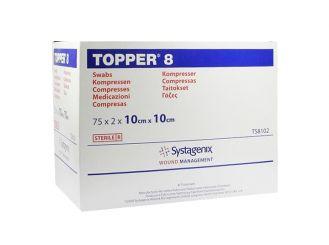 TOPPER 8-compresses, 10 x 10cm, sterile 75x2 items