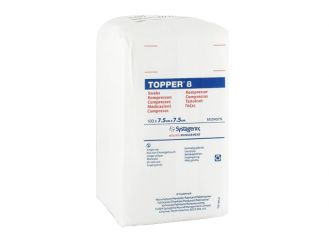 TOPPER 8-Kompressen, 7,5 x 7,5 cm, unsteril 1x100 items