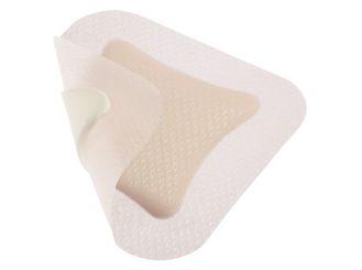 DracoFoam haft, 7,5 x 7,5 cm, Schaumstoffwundauflage mit Haftrand, steril, 1x10 Stück