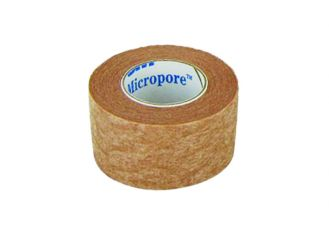 3M Micropore, hypoallergenes Vliespflaster hautfarben, 2,50 cm x 9,14 m 1x12 Stück
