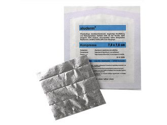 aluderm® Kompresse, einzeln steril verpackt, 7,5 x 7,5 cm 1x1 Stück