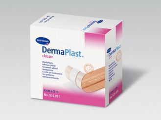 DermaPlast® classic Wundpflaster 4 cm x 5 m 1x1 Rollen