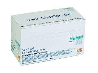 MaiMed® - MKS Schlitzkompressen 5 x 5 cm steril 12-fach 50x2 Stück