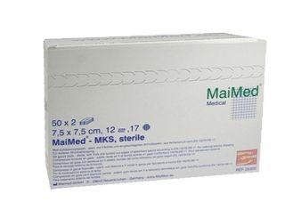 MaiMed® - MKS Schlitzkompressen 7,5 x 7,5 cm steril 12-fach 50x2 Stück