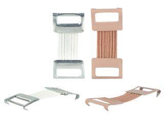 Verbandklammern elastastisch weiß 1x100 Stück