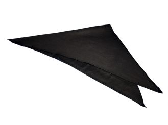 Dreiecktuch schwarz, 90 x 90 x 127 cm 1x1 items