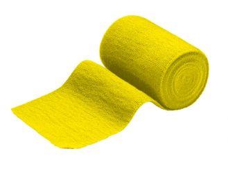INTERMED Idealbinde, 5 m x 10 cm, gelb, mit verbandklammern, 1x10 Stück