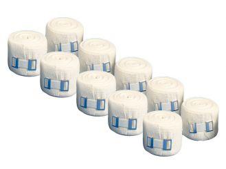 INTERMED DIN ideal weiß, mit Verbandklammern, 5 m x 8 cm, 1x10 Stück
