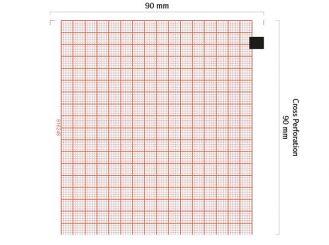 EKG-Papier Schiller Cardiovit AT-4, 90 x 90 mm 1x230 Stück