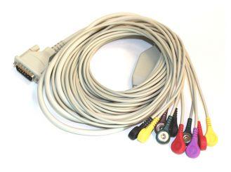 EKG Patientenkabel für Klebeelektronen, Druckknopf 1x1 Stück