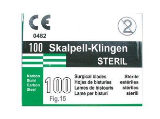 Einmal-Skalpellklingen Gr. 15 1x100 Stück