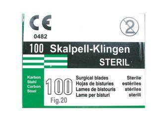 Einmal-Skalpellklingen Gr. 20 1x100 Stück
