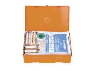 Verbandkasten KIEL, Kunststoff orange, Füllung Standard (DIN 13157) 1x1 Stück