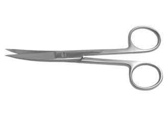 Einmalinstrument (steril) - Chirurgische Schere, gebogen, spitz / spitz, 14 cm 1x10 items