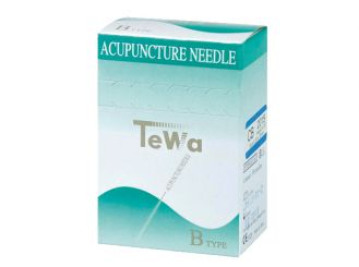 TeWa Acupuncture needles B-type, 0.20 x 15 mm, pale blue 1x100 items