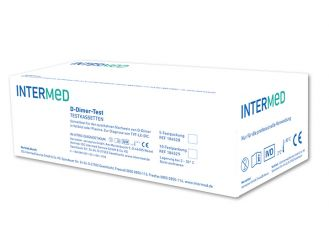 INTERMED D-Dimer-Test, test cartridges 1x10