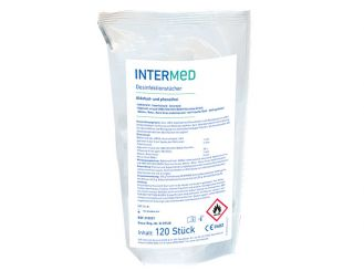 INTERMED Disinfection wipes refill pack, 14 x 20 cm, 1x120