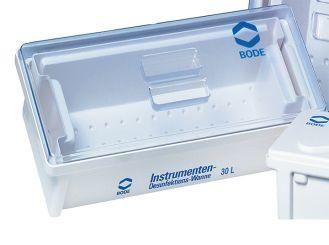 Bode Desinfektionswanne, 30 Liter, 615 x 400 x 220 mm (L x B x H) mit Deckel und Auslaufhahn. 1x1 Stück