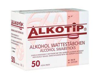 Alkotip® Alkoholwischstäbchen mit grossem Wattekopf 1x50 items