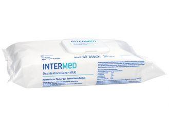 INTERMED Desinfektionstücher MAXI, alkoholische Tücher zur Schnelldesinfektion, 1x60 Tücher