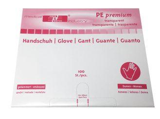 """PE-Handschuhe gehämmert """"DAMEN"""" 1x100 Stück"""