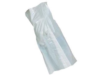 Disposable aprons white about 140 cm in length 1x100 items