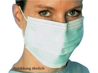 Einmal-Mundschutz mit Nasenbügel und Gummischlaufen 1x50 Stück