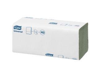 Tork® Universal Handtuch, grün, 25 x 23cm, 1-lagig, ZZ-Falz, 1x4000