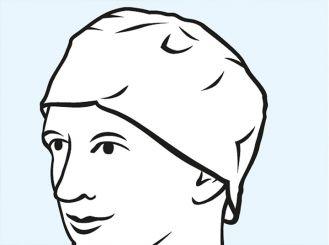 Foliodress® cap Comfort Rondo grüne OP-Hauben 1x100 items