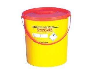 Sharpsbin® Abfallcontainer 22 l, rund mit rotem Deckel und Schiebeverschluss 1x1 Stück