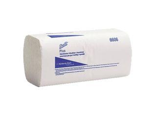 Scott® Plus Handtücher klein (6606) 24,7 x 23 cm 1-lagig AIRFLEX Material Zick-Zack-Falzung hochweiß 1x3600 Tücher