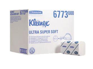 KLEENEX® Ultra Super-Soft Handtücher (6763) 21,5 x 41,5 cm 3-lagig AIRFLEX Material interfold hochweiß 1x2160 Tücher