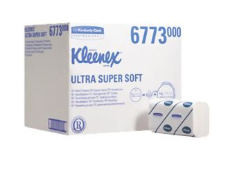 KLEENEX® Ultra Super-Soft Handtücher (6763) 21,5 x 41,5 cm 3-lagig AIRFLEX Material interfold hochweiß 1x2160