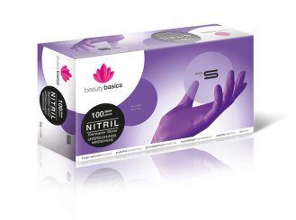 beauty basics Nitril-Untersuchungshandschuh, lila, puderfrei, Größe: S 1x100 Stück