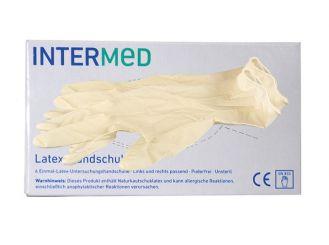 Mini-Box Latex-Handschuhe INTERMED, pf, Gr. M 1x6 items