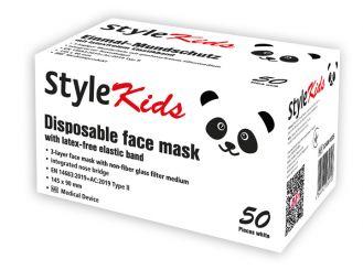 Style Kids Mundschutz, 3-lagig, weiß 1x50 Stück