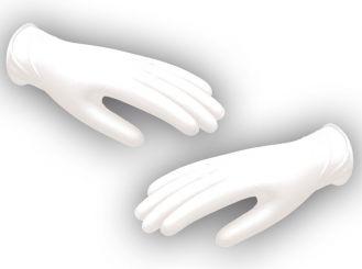 Nitril - Stretch - Handschuhe Größe M weiß 1x100 Stück
