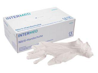 INTERMED Nitril-Handschuhe weiß, mittel 1x100 Stück