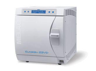 Euroklav® 23 VS+ mit einfachem Vor- und Nachvakuum, Kesseltiefe 45 cm (Volumen 22 Liter) 1x1 Stück