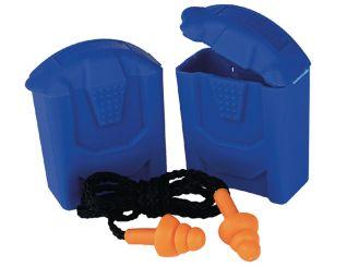 Gehörschutzstöpsel mit Band SAFELINE I, blau 1x1 items